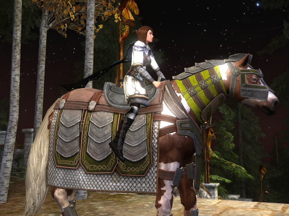 Fateful Gundabad War-Steed: Showing Dyed areas.