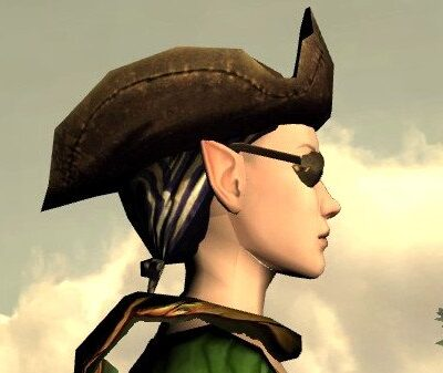 LOTRO Mariner's Hat and Eyepatch - Side View