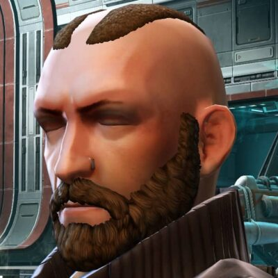Some bald styles are purposefully shaved.