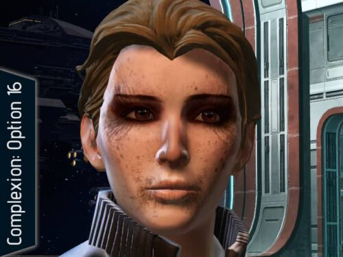 SWTOR Complexion Option 16, for the old, sinister look.