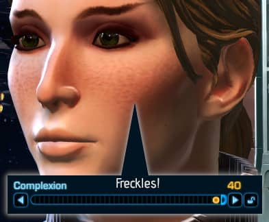 SWTOR Freckles in the Complexion Character Creation Setting