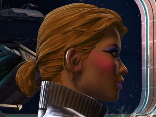 SWTOR Small Ponytail Hairstyle at Character Creation